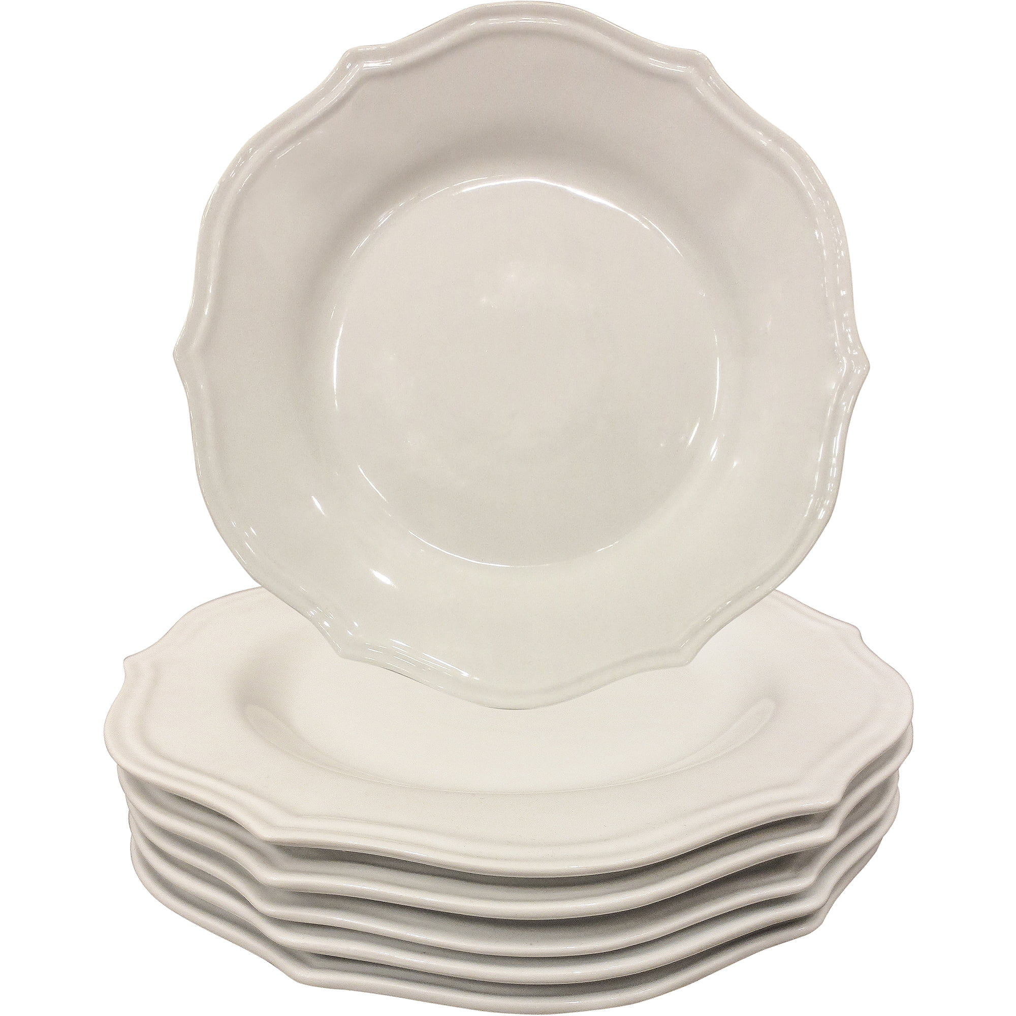 Better Homes and Gardens Scalloped Dinner Plates White Set of 6 - Walmart.com  sc 1 st  Walmart & Better Homes and Gardens Scalloped Dinner Plates White Set of 6 ...