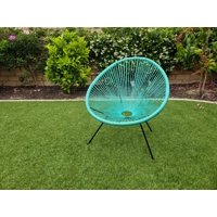 E-joy Acapulco Chair Indoor Outdoor Lounge Chair,limeGreen A pair of redblue_eggchair 1units
