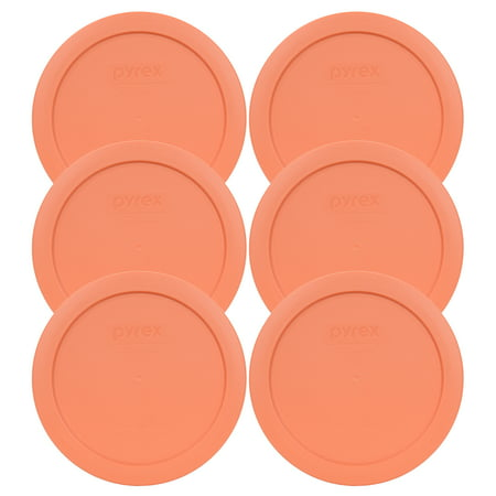Pyrex Replacement Lid 7201-PC Bahama Sunset Light Orange Plastic Cover (6-Pack) for Pyrex 7201 4-Cup Bowl (Sold Separately) (Mystery Bowls For Halloween)
