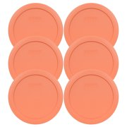 Pyrex Replacement Lid 7201-PC Bahama Sunset Light Orange Plastic Cover (6-Pack) for Pyrex 7201 4-Cup Bowl (Sold Separately)
