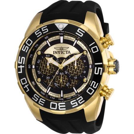 Invicta Men's 26301 Speedway Quartz Multifunction Gold, Black Dial