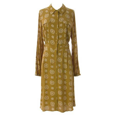 Boden Boden Women S Vintage Shirt Dress Us Sz 14r Goldenrod