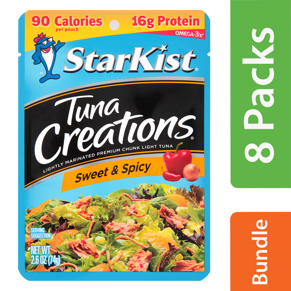 StarKist Tuna Creations Sweet & Spicy Tuna, 2.6 oz Pouch (8 Packs)