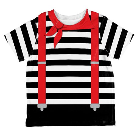 Halloween French Mime Costume All Over Toddler T Shirt](French Costume)