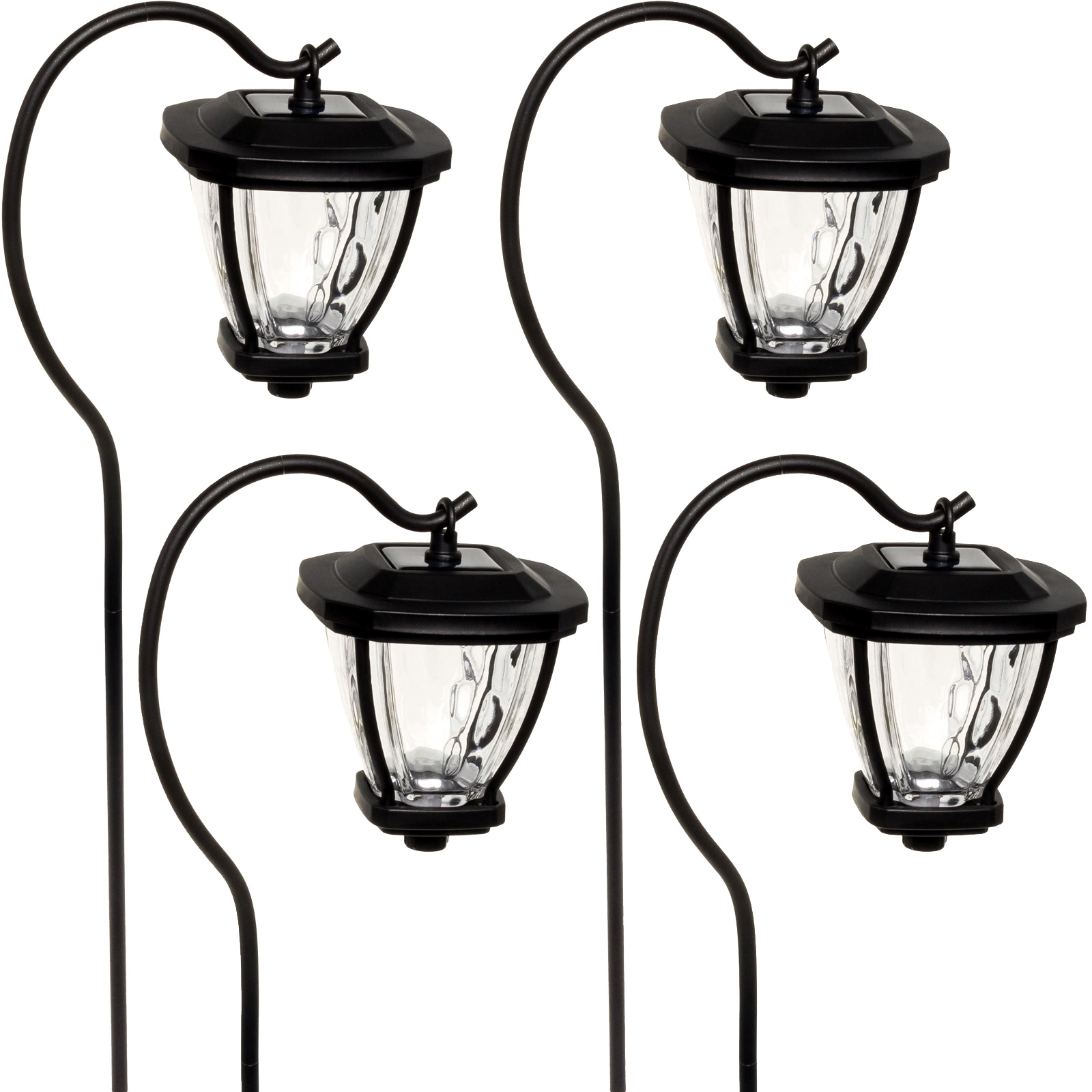 Gourmet NEW Solar LED Shepherds Hook Hanging Lantern Path...