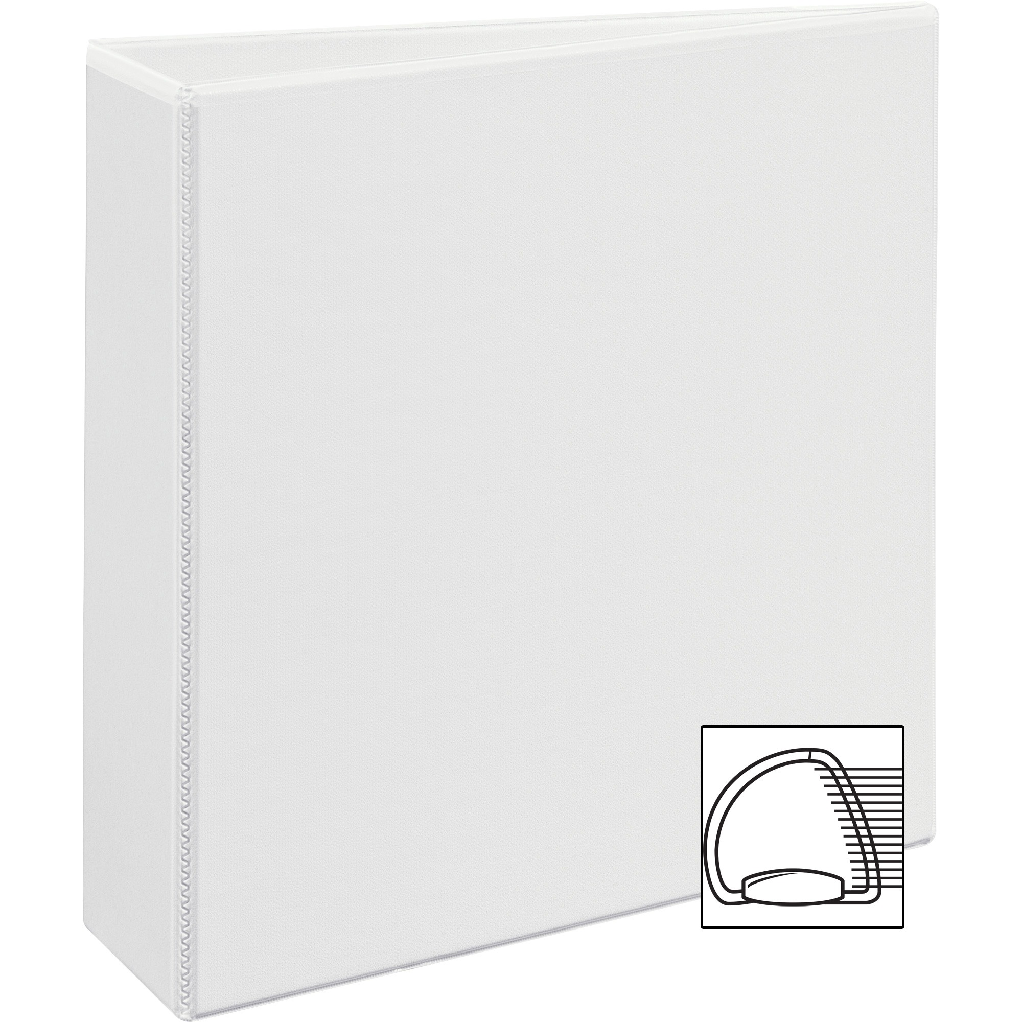 "Avery Durable View Binder w Nonlocking EZD Rings, 11 x 8 1 2, 3"" Cap, White by Avery"