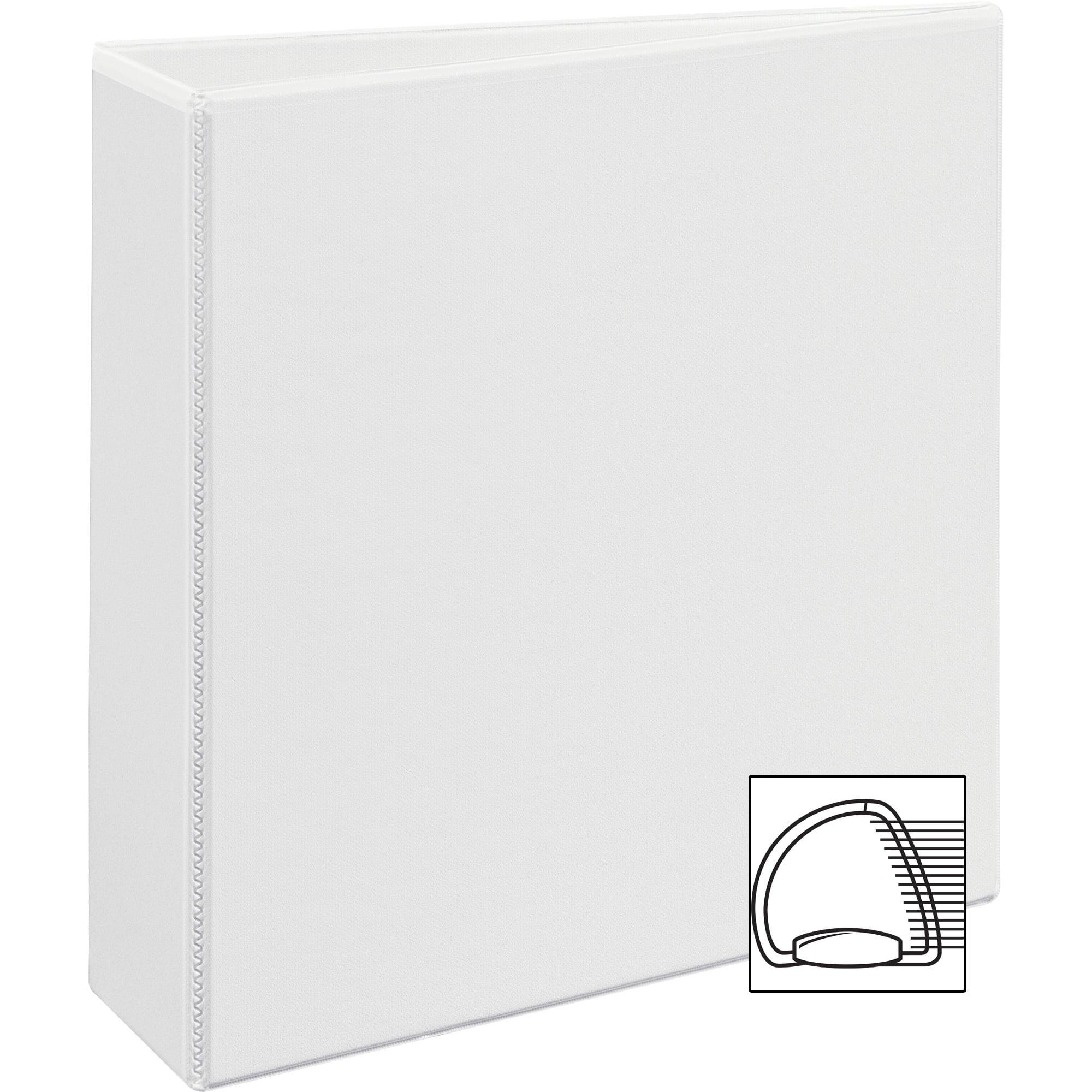 "Avery Durable View Binder w/Nonlocking EZD Rings, 11 x 8 1/2, 3"" Cap, White"