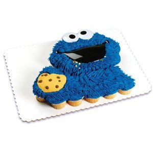 Cookie Monster Face Poptop Cake Topper ~ Designer Cake ...