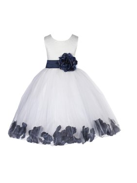 a0b96044073e Product Image Ekidsbridal Lace Top Floral Petals Ivory Flower Girl Dress  Tulle Weddings Summer Easter Dress Special Occasions