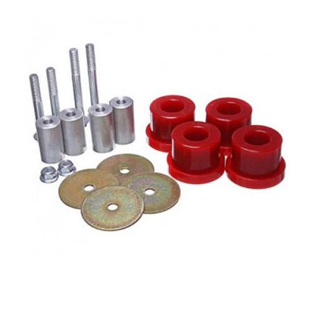 Energy Suspension E12 41139R Ford 2015 16 Mustang Irs Differential Mount Bushings  44  Red