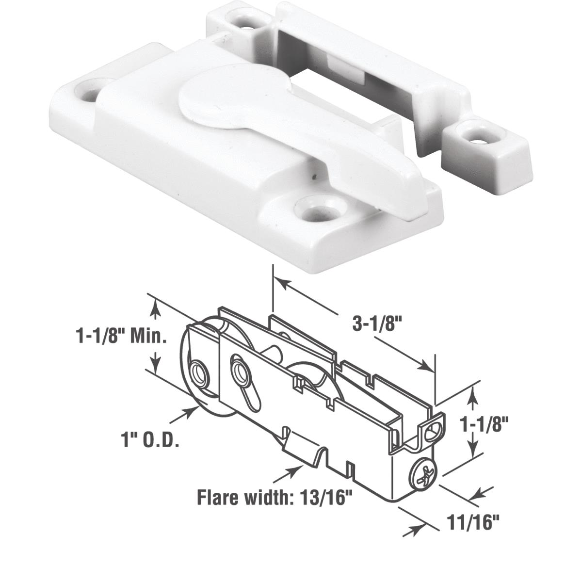 Vinyl Framed Sliding Window Sash Lock