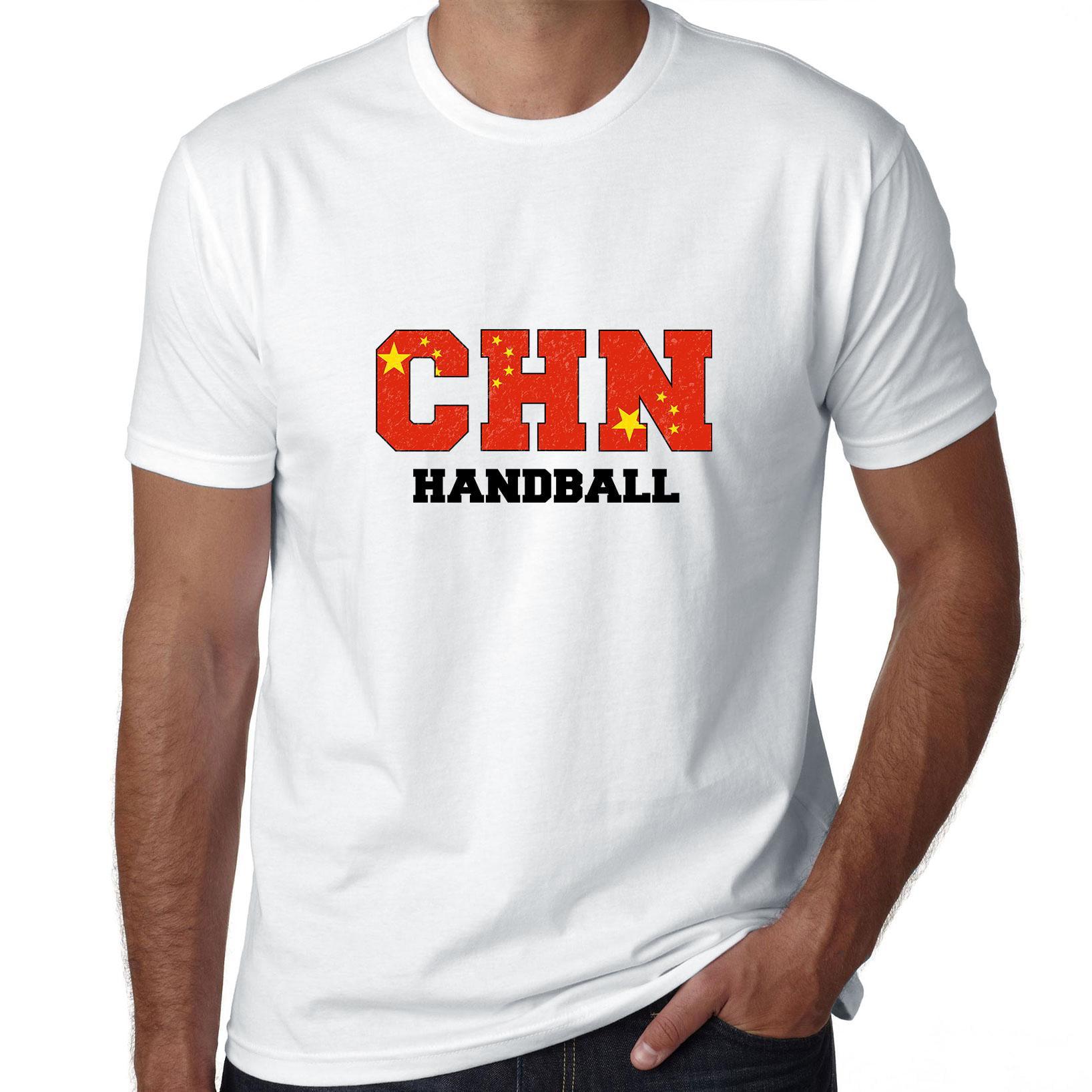 China Handball Olympic Games Rio Flag Men's T-Shirt by Hollywood Thread