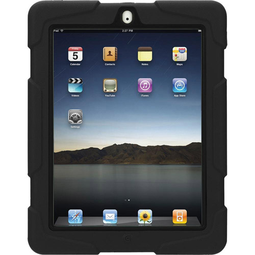 Griffin Black/Black Survivor All-Terrain Case + Stand for iPad 2, 3, and 4th Gen, Military-duty case with stand