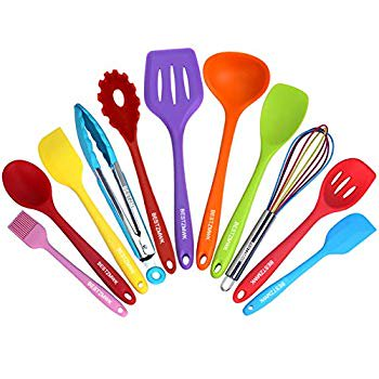 Kitchen Utensil Set - 11 Cooking Utensils - Colorful Silicone Kitchen Utensils - Nonstick Cookware with Spatula Set - Colored Best Kitchen Tools Kitchen Gadgets Kitchen Utensil Set - 11 Cooking Utensils - Colorful Silicone Kitchen Utensils - Nonstick Cookware with Spatula Set - Colored Best Kitchen Tools Kitchen Gadgets