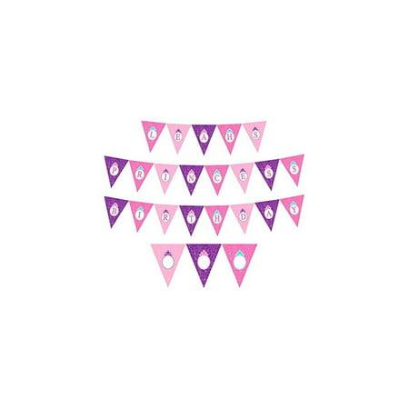 Disney Princess Pennant Banner (Each) - Party Supplies (Disney Banner)