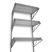 "ZORO SELECT 2HGF3 Steel Wire Wall Shelving, 18""D x 48""W x 54""H, Chrome"
