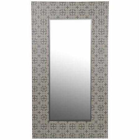 Privilege International Large Grey Wood Framed Mirror - Walmart.com