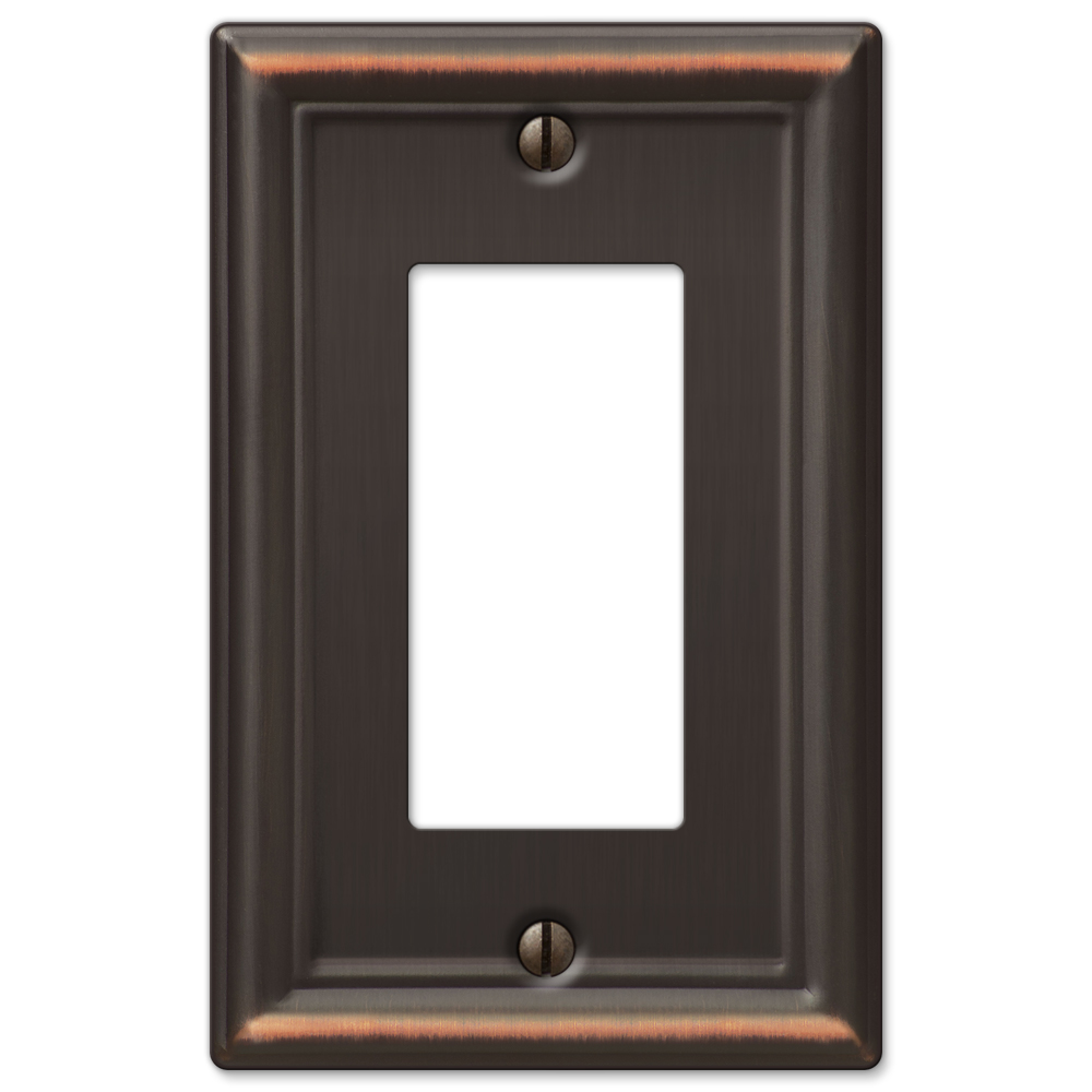 AmerTac 149RDB Chelsea Steel Single Rocker-GFCI Wallplate, Aged Bronze