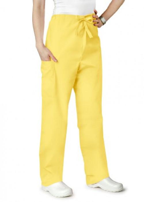 Adar Universal Unisex Natural-Rise Drawstring Tapered Leg Pants - 504 - Banana - XS