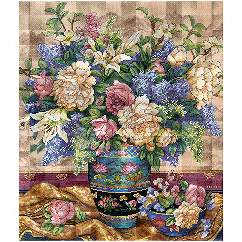 """Dimensions Gold Collection """"Oriental Splendor"""" Counted Cross Stitch Kit, 12"""" x 14"""""""