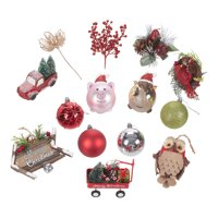 Holiday Time Farmhouse Variety Christmas Tree Ornaments, 28 Count, Limited Edition