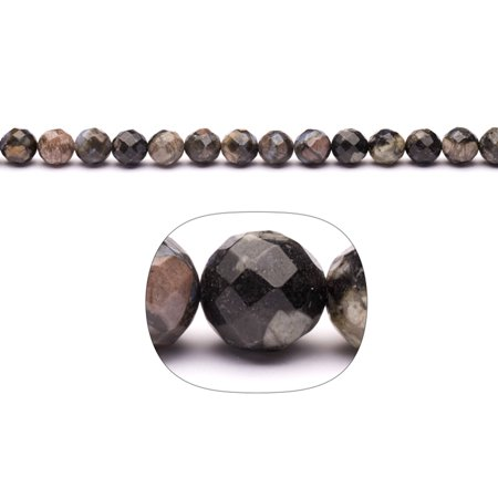 4.5 Mm Round Stones - Mix Gemstone 9mm Faceted Round Beads Strand