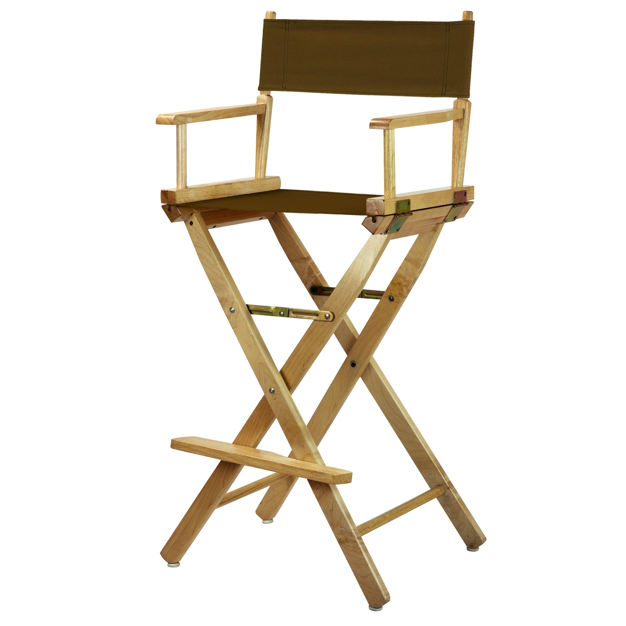 """30"""" Director's Chair Natural Frame-Brown Canvas"""