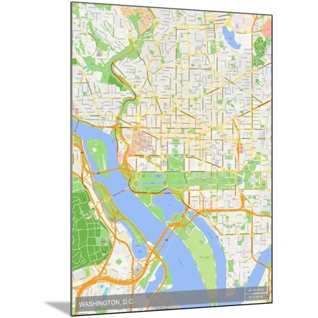 Washington, D.C., United States of America Map Poster - 24x32 ...