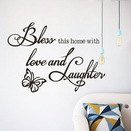 Wall Sticker,Kapmore Removable Self Adhesive Letter Quote Decorative Sticker Wall Decal for Home Bedroom Living Room