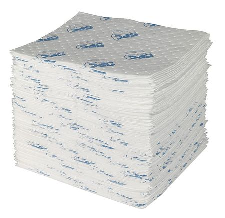 BRADY SPC ABSORBENTS Absorb Pad,Oil-Based Liquids,White,PK100 SXT300