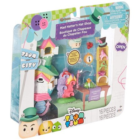 74d5f8f8a50 Tsum Tsum Disney Mad Hatter's Hat Shop Set Miniature Toy Figures -  Walmart.com