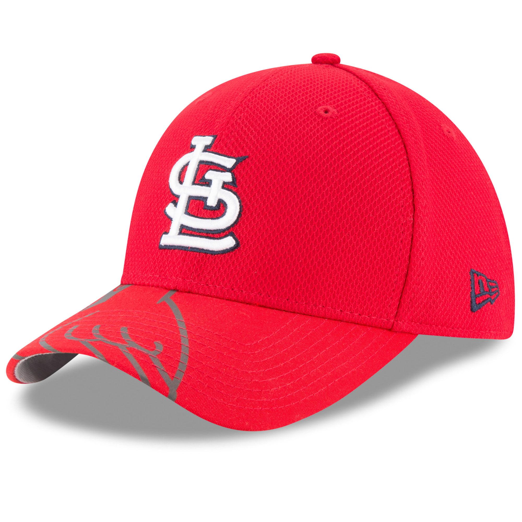 St. Louis Cardinals New Era Flow Flect Logo 39THIRTY Flex Hat - Red
