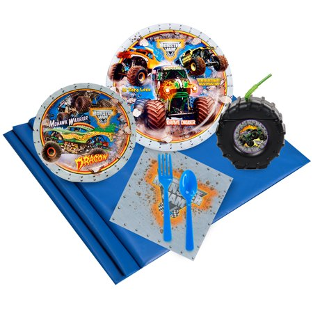 Monster Jam 3D 16-Guest Party Pack with Molded Cups