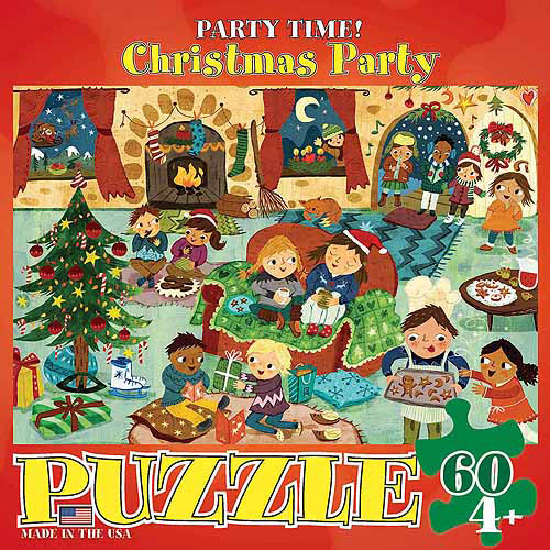 EuroGraphics Christmas Party Party Time 60-Piece Puzzle