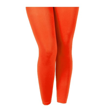 Hot and Sexy Orange Footless Tights - Hot Teen Tights