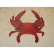 Handcrafted Decor R-Crab Wooden Rustic Red Wall Mounted Crab Decoration, 32 in.