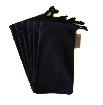 5 x Sun glasses pouch case shades specs bag drawstring wallet phone jewelery