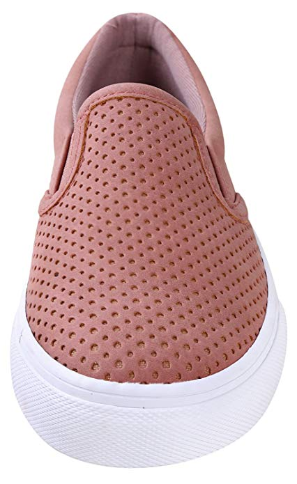Soda shoes women/'s Traceur À Enfiler Semelle Blanc Chaussures Mauve Blush
