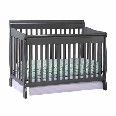 Storkcraft Modena 4 In 1 Fixed Side Convertible Crib Gray