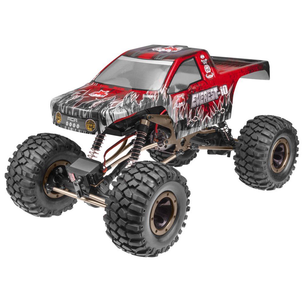 Redcat Racing Everest 10 1:10 Scale Rock Crawler Electric Brushed RC Truck, Red by Redcat Racing