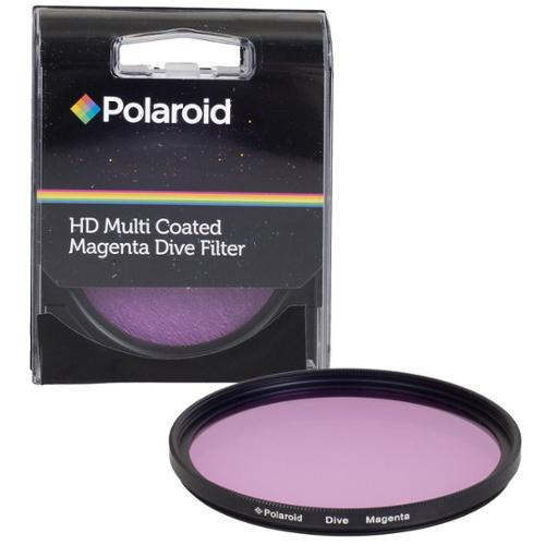 Polaroid 52mm HD Muti-Coated Magenta Dive Filter - For Use In Green Water