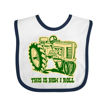 Grn Bib (This Is How I Roll Tractor GRN Baby Bib )