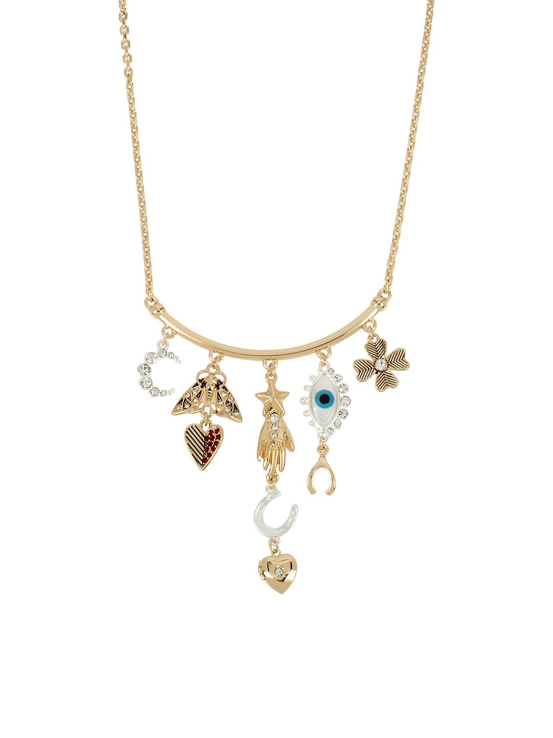Modern Mystic Mixed Multi Charm Frontal Necklace