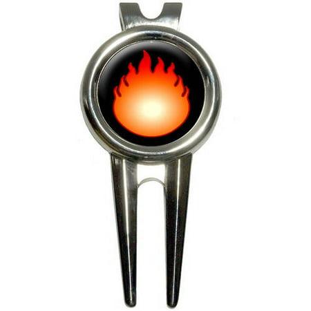 Fire Fireball Golf Divot Repair Tool and Ball