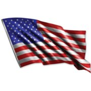 American Flag Waving - Large Size Vinyl Sticker Decal - for Truck Car Cornhole Board Sticker 16""