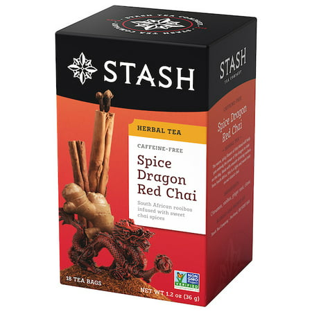 Stash Tea Spice Dragon Red Chai Herbal Tea, 18 Ct, 1.2 Oz