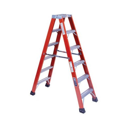 Louisville Ladder 16 Ft Fiberglass Step Ladder With 375 Lb