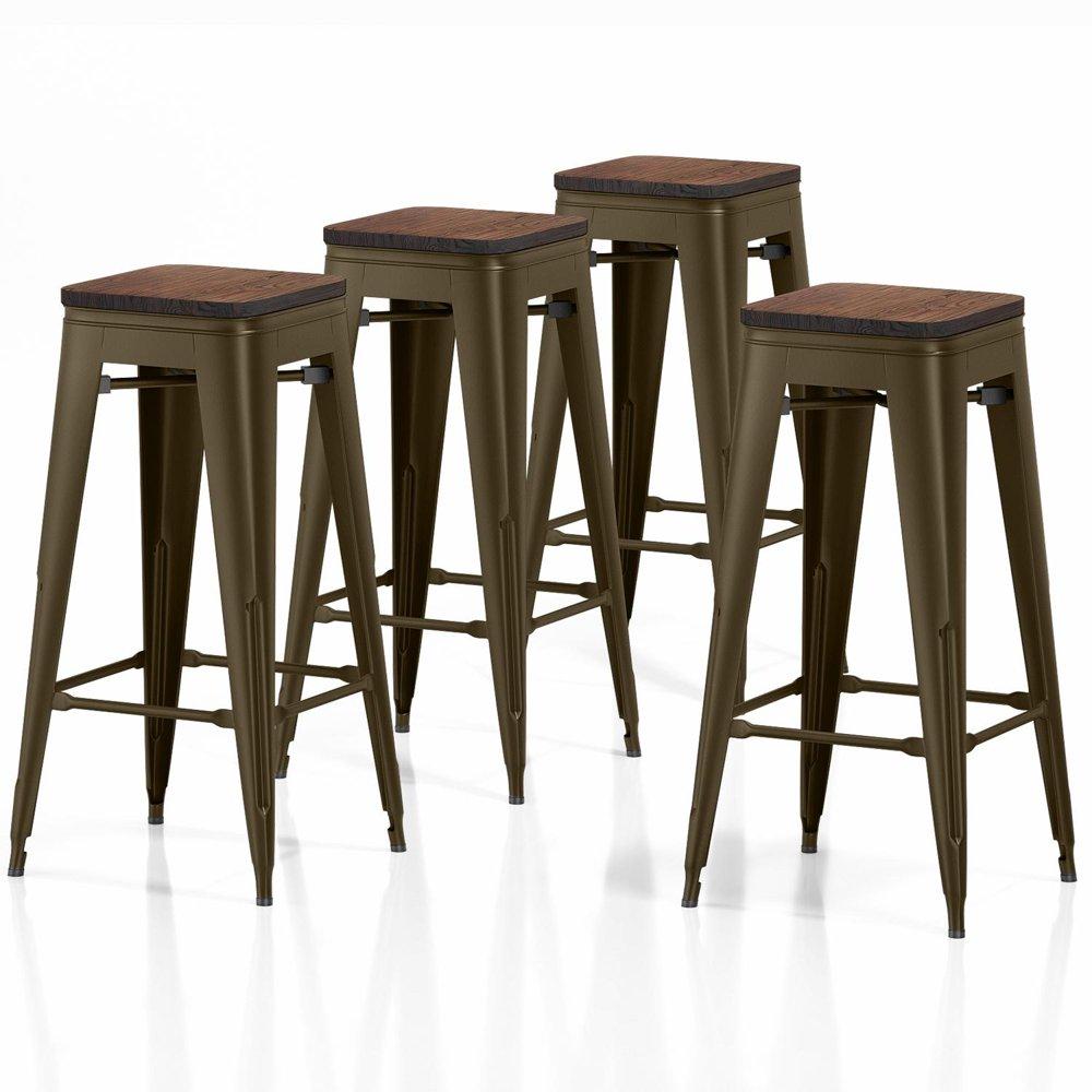 vipek 30 inches metal bar stools set of 4 barstool bar