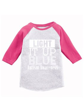 ef79ec66b73 Product Image Awkward Styles Light It Up Blue Toddler Shirt Light It Up  Blue Autism Awareness Raglan Shirt