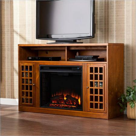 Holly & Martin Akita Media Electric Fireplace in Glazed Pine